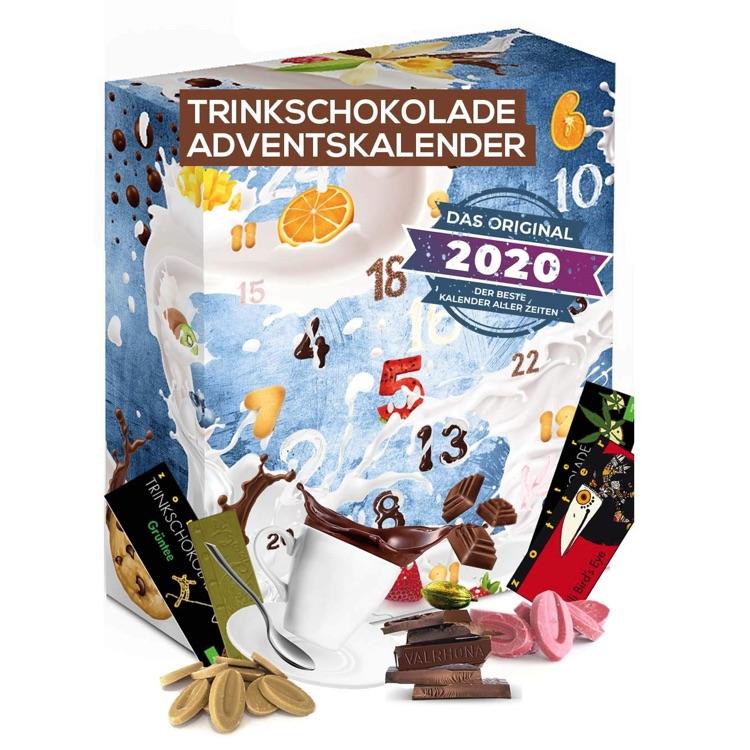 Adventskalender gefüllt mit Trinkschokolade