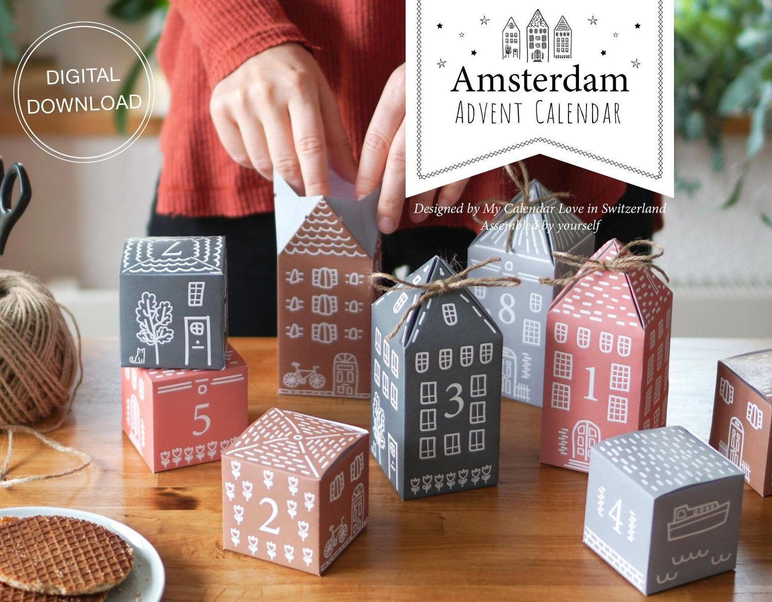 Amsterdam Adventskalender zum Ausdrucken