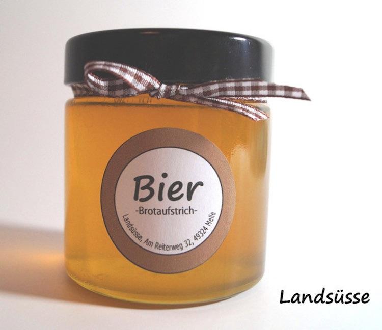 Wichtelgeschenkidee: Bier Gelee als Brotaufstrich