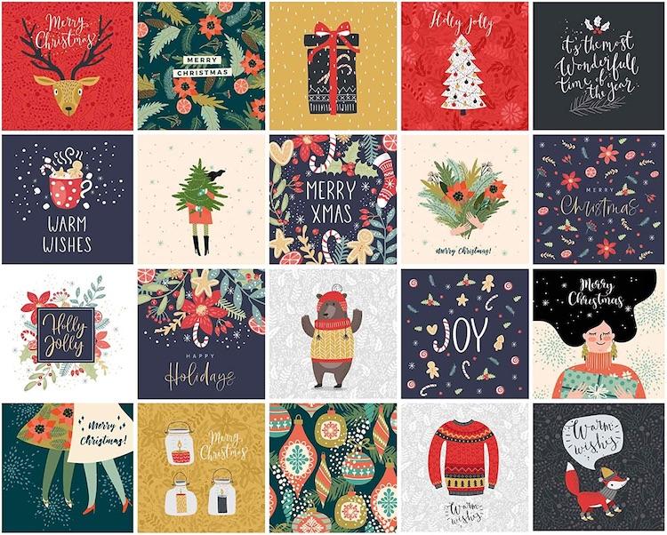 Englische Weihnachtskarten