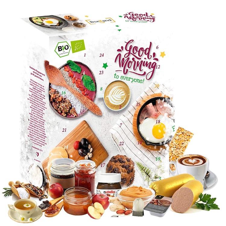 Frühstücksadventskalender mit süßen & herzhaften Produkten