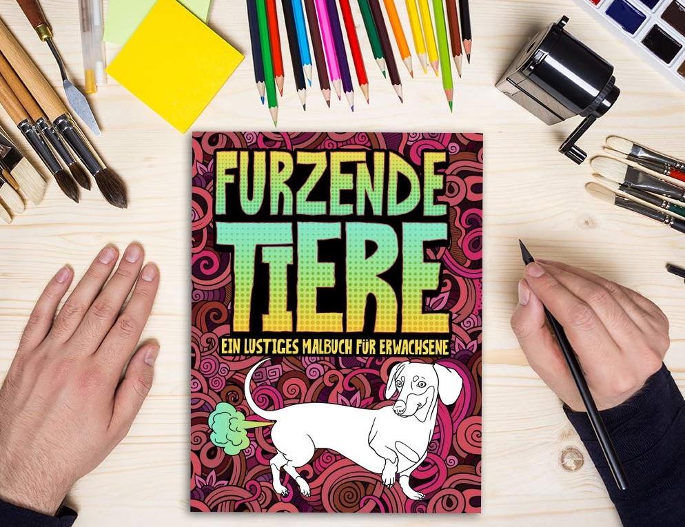 Wichtelgeschenk: lustiges Malbuch für Erwachsene