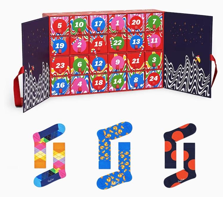 Socken Adventskalender von Happy Socks