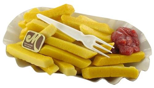 Witziges Wichtelgeschenk mit P bis 10 Euro: Pommes aus Marzipan