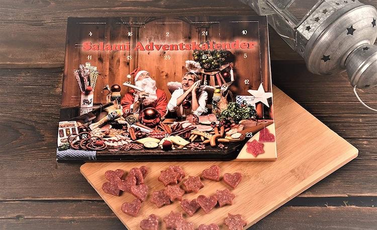 Wurst Adventskalender gefüllt mit Salami