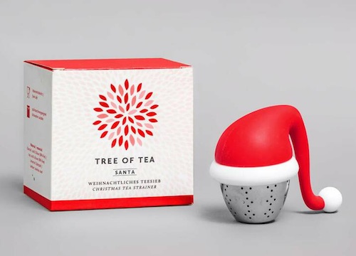 Wichtelgeschenkidee: Teesieb mit Nikolausmütze