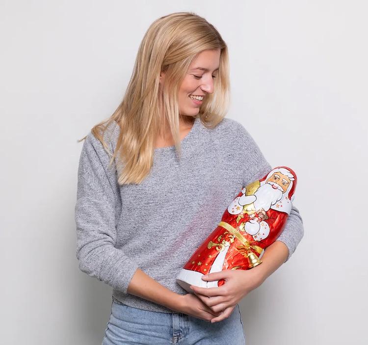 Süßigkeiten zum Nikolaus: 1kg Schokoladen Weihnachtsmann von Lindt