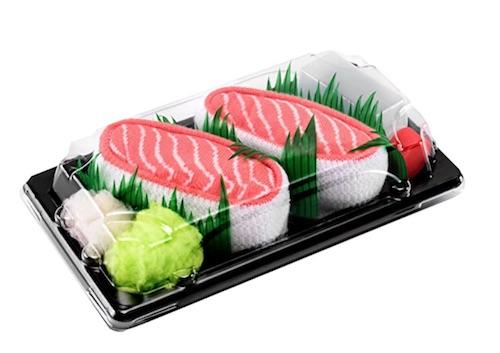 Lustiges Wichtelgeschenk mit S bis 10 Euro: Sushi Socken