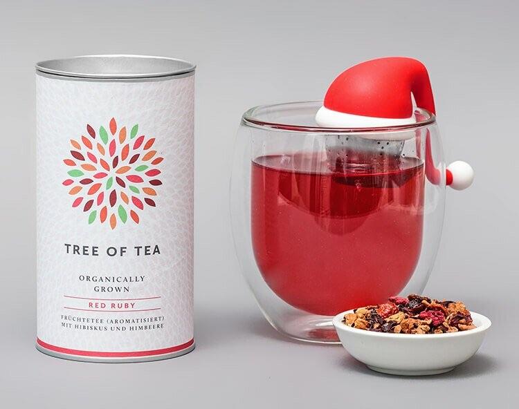 Nikolausgeschenk für Erwachsene: Tee Set Santa