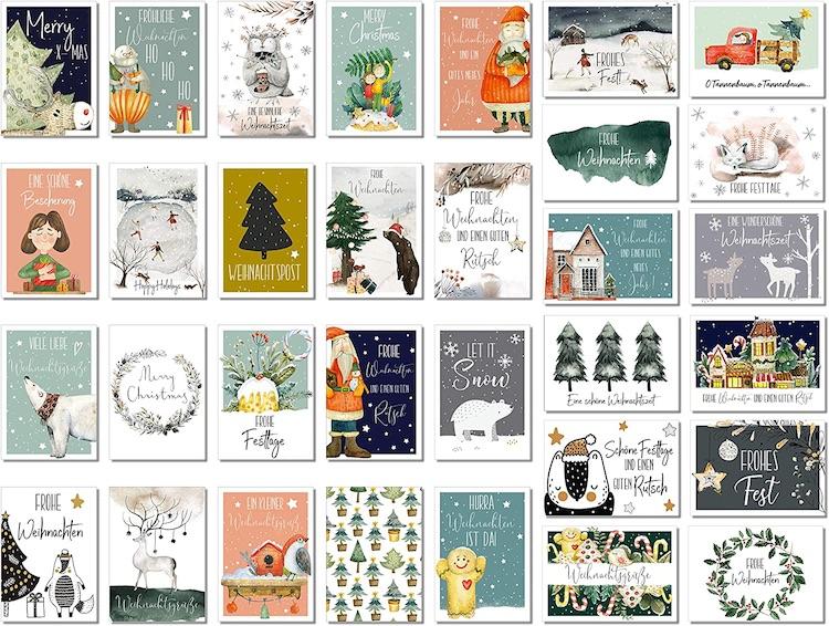 Beispiel: Schöne Weihnachtskarten für deine Weihnachtsgrüße