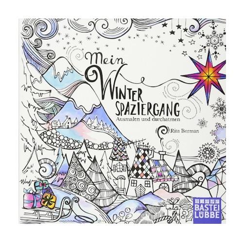 Wichtelgeschenk mit W bis 10 Euro: Winterspaziergang Malbuch