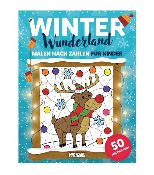 Winter Wunderland: Malen nach Zahlen für Kinder