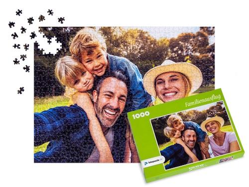 Geschenkidee für Mama: Fotopuzzle aus Familienfoto