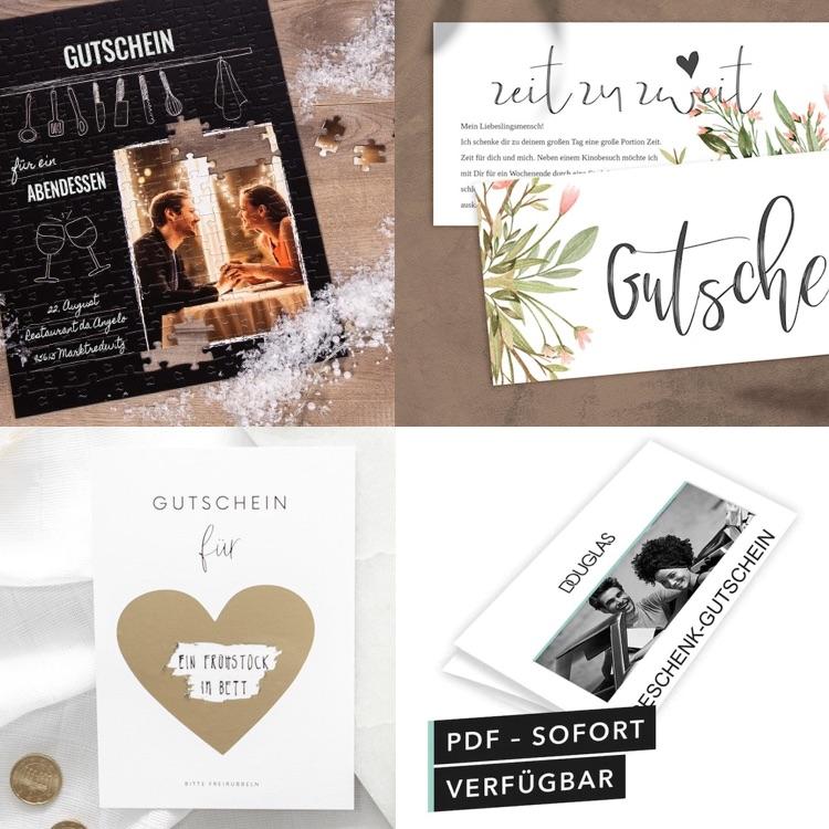 Gutschein verschenken: Ideen für selbstgemachte Gutscheine und Geschenkgutscheine zum kaufen