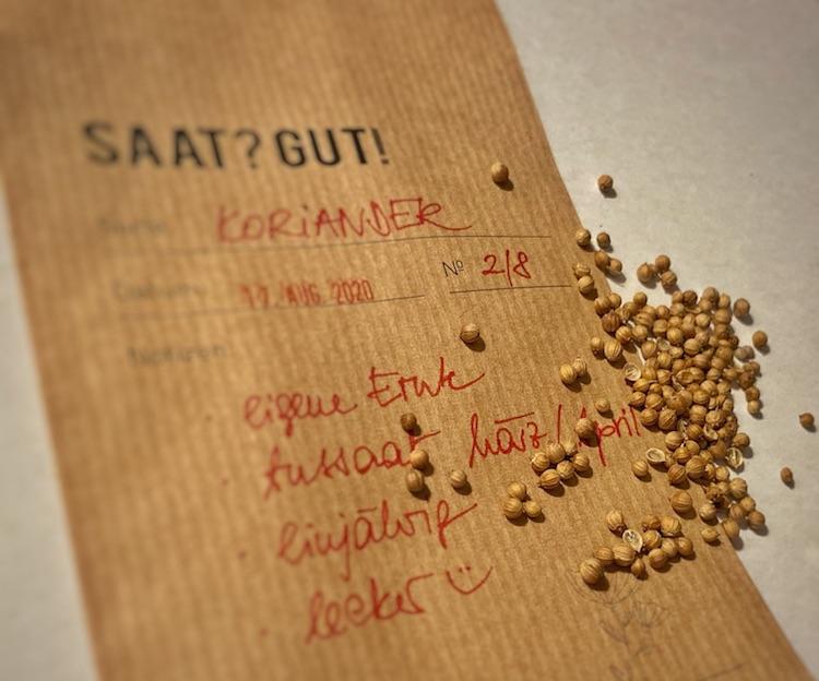 Kraftpapier-Tüte für Saatgut