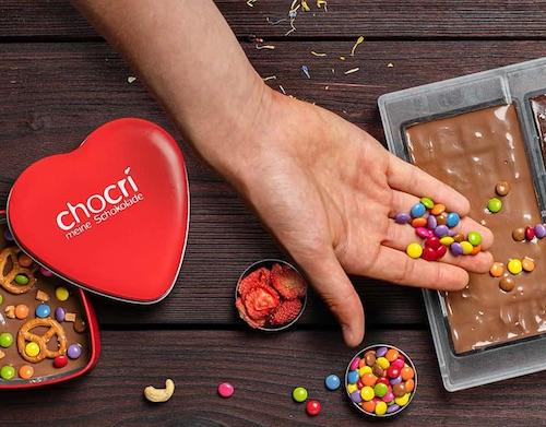 selbstgemachte Schokolade oder Pralinen