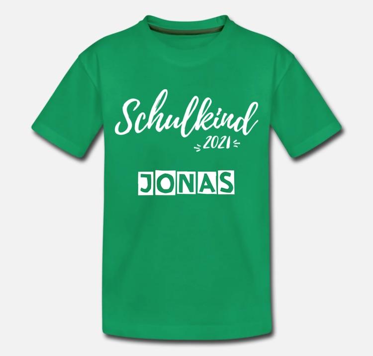 Beispiel Schulkind 2021 Shirt mit Namen