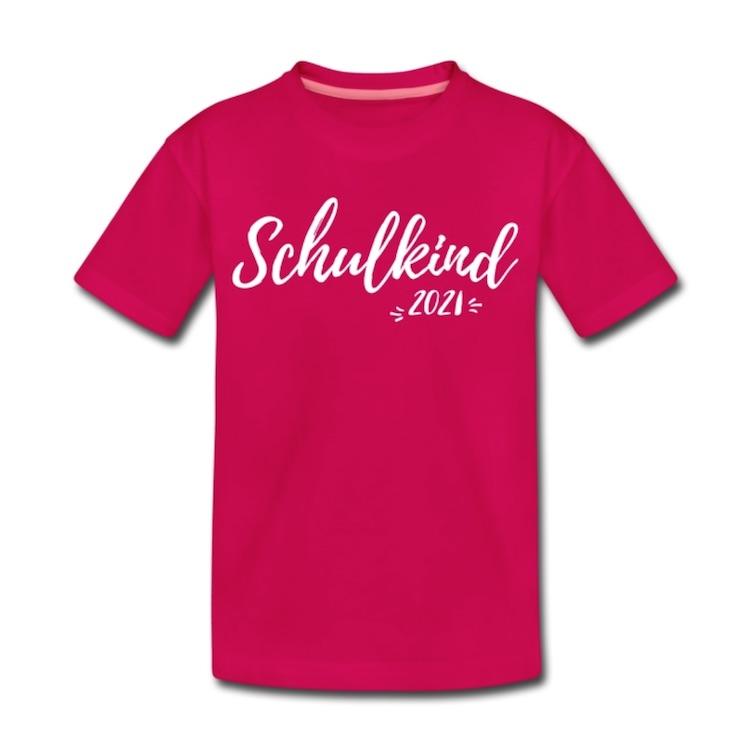 T-Shirt zur Einschulung mit Aufdruck Schulkind 2021